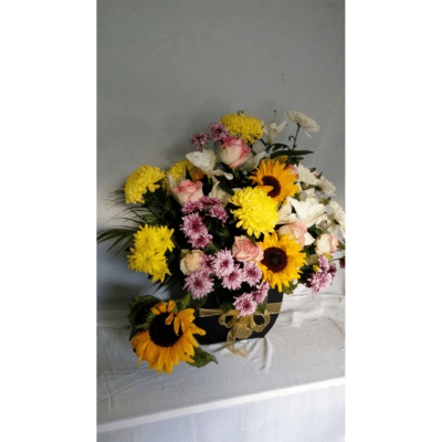 Sunflowers and chrysanthemums