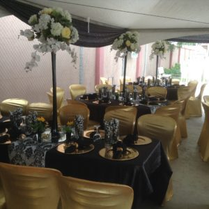 Black and gold decor