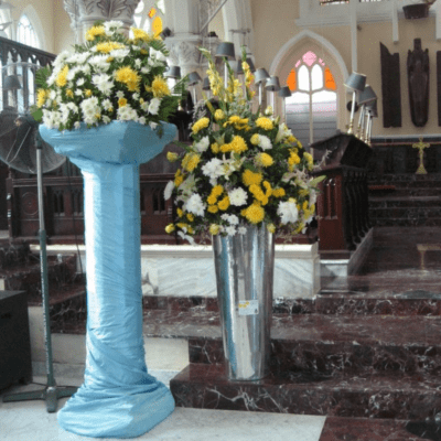 Church floral arrangement