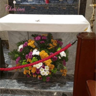 church altar flowers