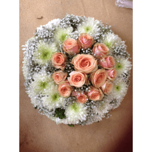 peach white wreath